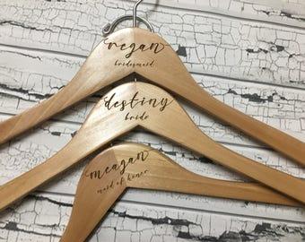 Wedding Hanger | Bride Hanger | Bridal Hanger | Wedding Dress Hanger | Bridesmaid Hangers | Personalized Hanger | Wood Hangers | Bride Gift