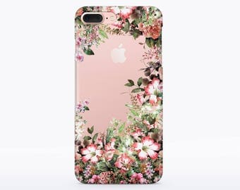 Flowers Blooming case Floral 7 Case iPhone 5 S6 Samsung Galaxy case 7 iPhone case iPhone 6s Soft Case 7 iPhone phone case Clear Case CMCP74