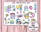 23 You're Lucky Stickers Y-04 - Perfect for Erin Condren Life Planners / Journals / Stickers.