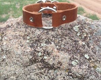 Plain Leather Dog Collar