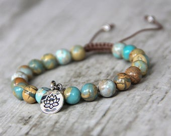 lotus charm bracelet protection jewelry beaded shamballa bracelet for women gift girlfriend macrame bracelet adjustable healing bracelet