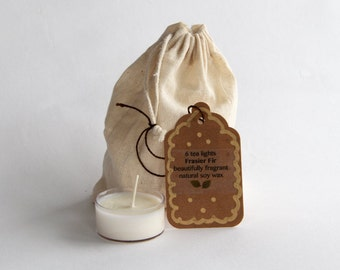 Tea Light Sample Bag Natural Soy Wax Orla Soy Candle Rhode Island