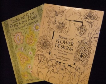 Treasury of Flower Designs and Traditional Floral Designs and Motifs Books for Artists, Embroiderers, and Craftspeople