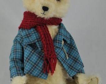 OOAK artist bear, teddy bear, unique, WILLIAM
