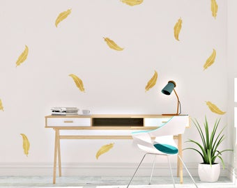 Feather Wall Decals - Feather Wall Decal - Vinyl Wall Decal - Feather Decal - Wall Decal - Decal - Wall Decor - Feather
