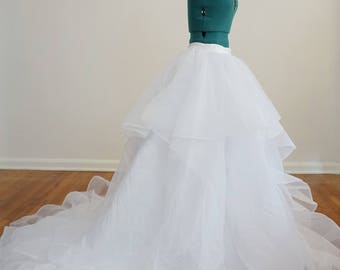 Gorgeous Tulle Wedding Skirt with Horsehair Trim & Layers Custom