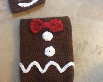 Crochet Gingerbread Man Cocoon