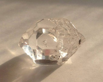 31.5ct AA Grade Raw Herkimer Diamond Crystal w/ MOVING ENHYDRO + Diamond Face & Right Activation Windows Terminated Clear Ascension Quartz