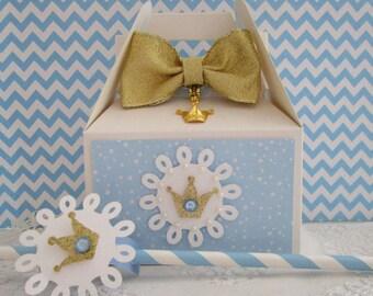 Princess Favor Boxes, Princess Party Favors, Favor Boxes, Blue Princess Favor Boxes, Girl Birthday Favor Boxes, Birthday Favor Boxes Qty 10