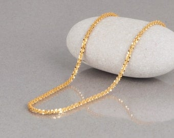 Gold Chain Necklace, Thin Gold Chain, Gold Layered Necklace, Dainty Gold Necklace, Sparkly Necklace, Minimal Necklace, Delicate Necklace