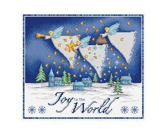Joy to the World - Durene J Cross Stitch Pattern