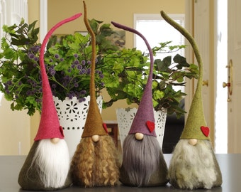 Meadow Gnome with Heart ~ Scandinavian Nordic Gnome