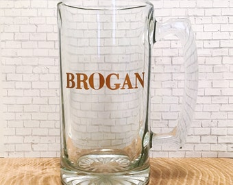 Personalized 25oz Large Beer Mug perfect for Groomsmen or Best Man Gift