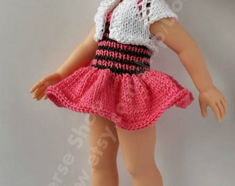 Handmade pink set for Paola Reina, Corolle Les Cheries , 13 inch dolls