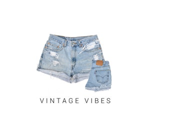 ON SALE Custom Distressed Vintage Levi's High Waisted Shorts