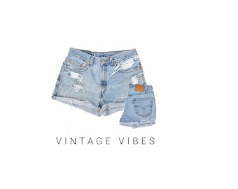Custom Distressed Vintage Levi's High Waisted Shorts