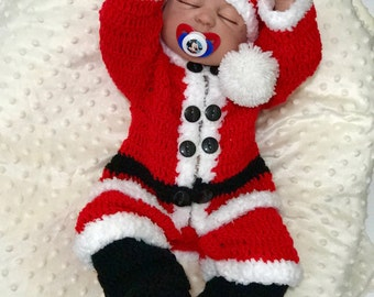 Baby Christmas Outfit, Baby Shower gift, Christmas, First Christmas Outfit, Baby Santa hat, Christmas Onesie, Christmas baby set, Baby Boy