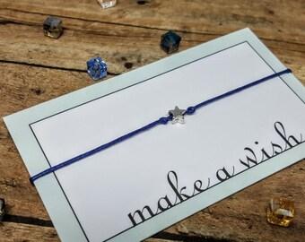 Star Bracelet, Fourth of July Bracelet, 4th of July Jewelry, Star Jewelry, Baby Shower Favor, Star Wish Bracelet, Star Wedding Favor