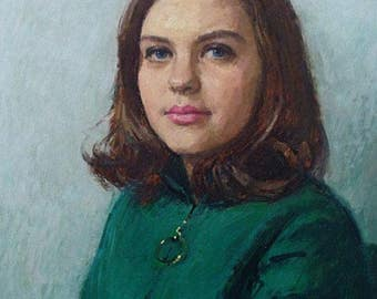 Michael Noakes (RP ROI) Original Oil Painting - Portrait Of Miss Claire Walker