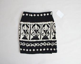 ethnic wrap skirt | ethnic skirt | black & white skirt