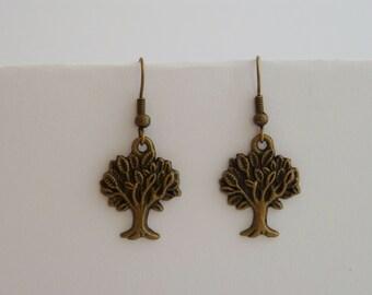 Tree as earrings