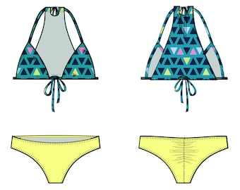 NEW! Stella - PDF Bikini Pattern -All sizes included