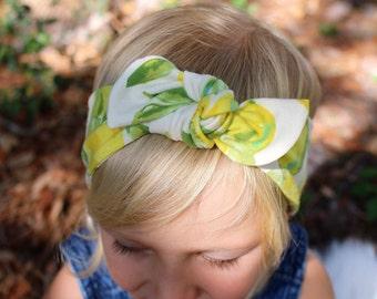 lemon knit top knot headband