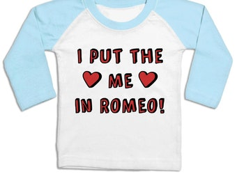 The Me In Romeo long sleeve baby baseball t-shirt