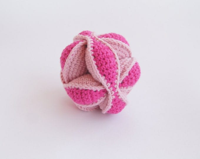 Montessori Ball, Crochet Puzzle Ball, Amish puzzle Ball, For Baby, Soft Ball, Stress Toy, Baby Clutch Ball, Crochet Toy