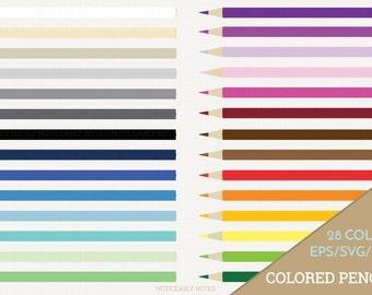 Colored Pencils Vector, Pencil Clipart, Back to School Clip Art, Pencils SVG, Office Supplies Printable, School Print and Cut (Design 11616)