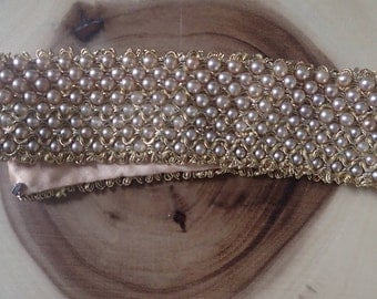 Pearl Crochet Collar Necklace