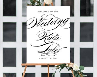 OLIVIA SUITE || Printable Wedding Welcome Sign, Reception Sign, Custom