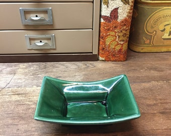 Vintage Dish Tray Planter Green USA