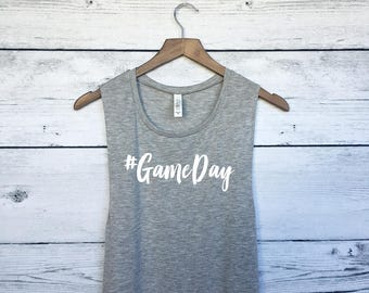 Game Day Muscle Tee Tank Top - Game Day Shirt - Sports Shirt - Football Shirt - Baseball Shirt - Game Day TShirt