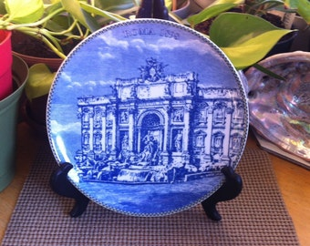Cobalt Collection Roma 1898 Collectors Wall Plate - Blue and White