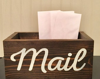 Large Rustic Mail Holder - Mail Organizer - Rustic Office Mail Box - Office Organizer