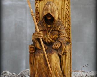 Seidhkona, Wooden statue, Wooden figurine, pagan, Scandinavian God, Scandinavian statue, Asatru, Vikings statue, Norse god, Heathen