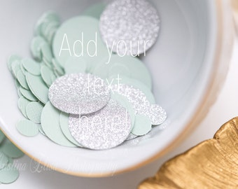 Confetti Styled Stock Photography | Silver Mint | Branding Image | Floral Styled Photo | Silver Glitter | Website Mockup  | Gold Feather