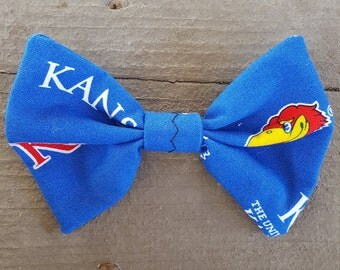 University of Kansas -  Blue KU Jayhawks Bow Tie