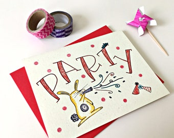 Kids Birthday Card / Child Birthday / Card for Kids / Party Invitation Card