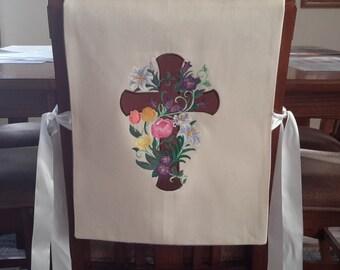Custom Made Easter-Spring Chair Cover/Bib