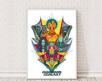 Guardians of the Galaxy Poster Art Film Poster Movie Poster