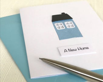 Little House New Home Card - New House Card - Moving Home Card - Moving House Card - House Warming Card - Happy New Home - Welcome Home