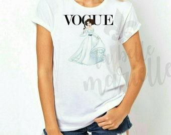 Custom Vogue Disney Princess Shirt - Princess Leia Disney Vogue Shirt