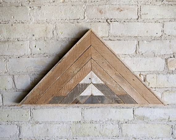 Reclaimed Wood Wall Art | Wood Decor  | Reclaimed Wood | Wood Art | Rustic Geometric| Wood Decor | Handmade | Mountain | Triangle | Natural