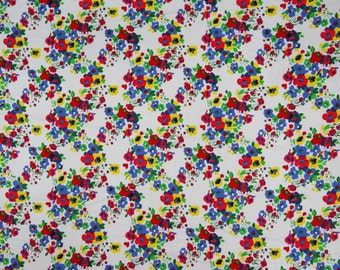 "Indian Fabric, Floral Print, Rayon Fabric, Dress Material, Quilting Fabric, Home Accessories, 44"" Inch Floral Fabric By The Yard ZBR121"