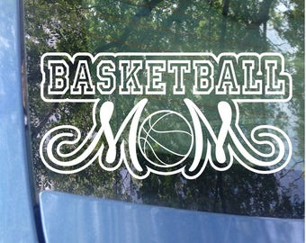 Basketball Mom Decal - Sports Mom - Basketball Mom Window Decal - Basketball Mom Car Decal - Sports Mom Decal - Mom Gift - Hoops Mom - Ball