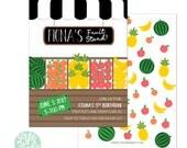 Fruit Stand Invitation | Fruit Invitation | Tutti Frutti Invitation- 5x7 with reverse side
