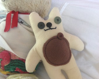 Babbit - Bear/Rabbit - Soft toy, plushie, stuffed animal - Cute, unique, handmade creation