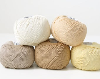 DMC Natura Just Cotton yarn, a set of 5 skeins, crochet yarn, knitting yarn, crochet thread, knitting thread, cotton yarn, amigurumi yarn